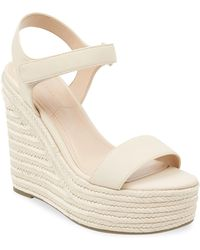 Kendall + Kylie - Leather Wedge Espadrilles - Lyst