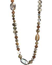Chan Luu - Abalone Mix Stone Necklace - Lyst