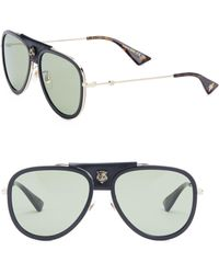 1894fc4854 Lyst - Gucci Large Rimless Wrap Frame Sunglasses with Crystal ...