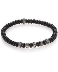 King Baby Studio - Black Onyx & Sterling Silver Bead Bracelet - Lyst