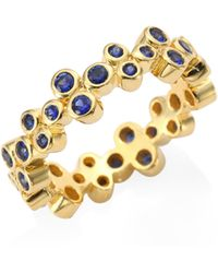Temple St. Clair - Trio Eternity Blue Sapphire Ring - Lyst