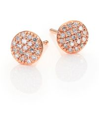 Phillips House - Affair Infinity Micro Diamond & 14k Rose Gold Stud Earrings - Lyst