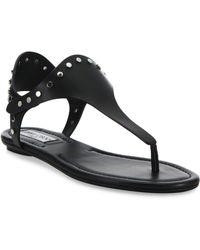 Jimmy Choo - Dara Studded Leather T-strap Sandals - Lyst