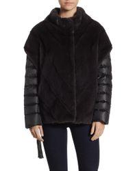 Saks Fifth Avenue - Mink Chevron Jacket - Lyst