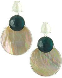 Ippolita - 925 Wonderland Overlapping Shell, Stone & Sterling Silver Snowman Post Earrings - Lyst