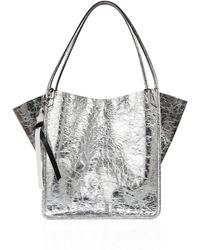 Proenza Schouler - Crinkled Metallic Leather Tote - Lyst