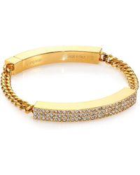 Vita Fede - Aria Crystal Id Bracelet/goldtone - Lyst