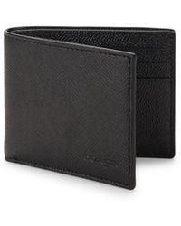 COACH - Crossgrain Slim Leather Bi-fold Wallet - Lyst