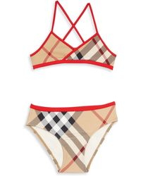 Burberry - Little Girl's & Girl's Two-piece Crosby Check Bikini - Lyst