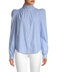 Joie - Tandice Gathered Shoulder Blouse - Lyst