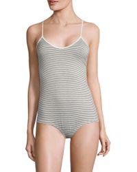 Maison Du Soir - Laguna Striped Bodysuit - Lyst