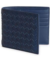 Bottega Veneta - Leather Woven Wallet - Lyst