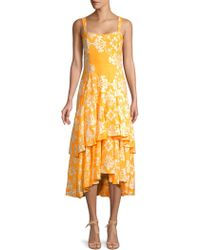 MESTIZA NEW YORK - Riviera Calabria Asymmetric Ruffled Dress - Lyst