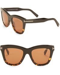8cea760bc0f Lyst - Tom Ford Christophe Plasic Square Sunglasses in Brown