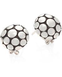 John Hardy - Dot Sterling Silver Large Button Earrings - Lyst