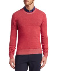 Saks Fifth Avenue - Modern Ribbed Crewneck Cotton Sweater - Lyst