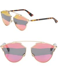 Dior - So Real 59mm Mirrored Pantos Sunglasses - Lyst