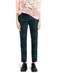 Burberry | Hanover Pine Green Plaid Trousers | Lyst