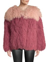 H Brand - Andie Two-tone Shearling Jacket - Lyst