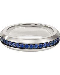 David Yurman - Pavé Streamline Sapphire Band Ring - Lyst