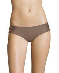 Mikoh Swimwear - Barcelona Skinny String Bikini Bottom - Lyst