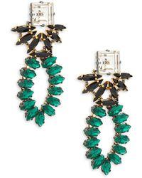 Tataborello - Swarovski Crystal Beaded Goldtone Drop Earrings - Lyst