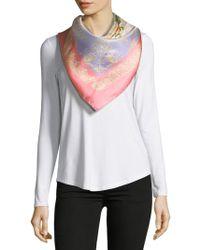 Saks Fifth Avenue - Floral-print Silk Foulard - Lyst