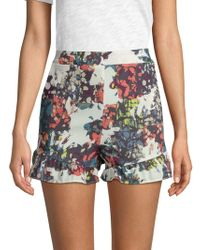BCBGMAXAZRIA - Printed High-rise Shorts - Lyst