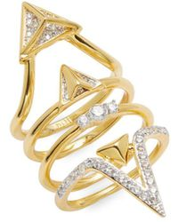 Noir Jewelry | Cz Cutout Ring | Lyst