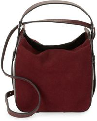 Kendall + Kylie - Molly Suede Mini Bucket Bag - Lyst