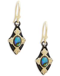 Armenta - Champagne Diamond & Gemstone Kite Earrings - Lyst