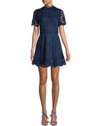 BB Dakota - Floral Fit-&-flare Mini Dress - Lyst