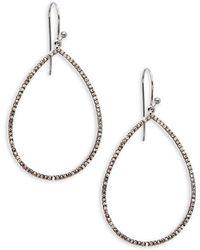 Bavna - Champagne Diamond And Sterling Silver Loop Drop Earrings - Lyst