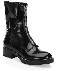 Alice + Olivia - Dustin Patent Leather Booties - Lyst