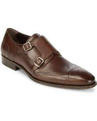 Mezlan - Leather Monk Strap Dress Shoes - Lyst