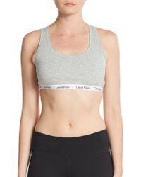 Calvin Klein - Logo Cotton Bralette - Lyst