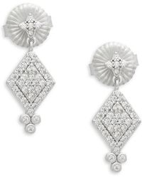 Freida Rothman - Small Harleqin Crystal Drop Earrings - Lyst