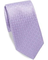 Saks Fifth Avenue Dotted Silk Tie