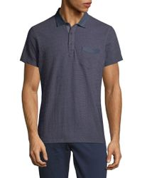 Saks Fifth Avenue - Textured Chambray Polo - Lyst