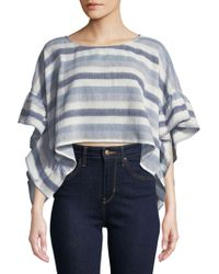 BCBGeneration - Striped Rectangle Crop Top - Lyst
