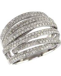 Effy - 14k White Gold & 0.42 Tcw Diamond Ring - Lyst
