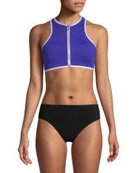 Juicy Couture - Front Zip Bikini Top - Lyst