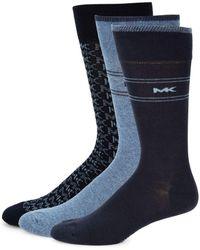 Michael Kors - 3-piece Logo Printed Sock Set - Lyst