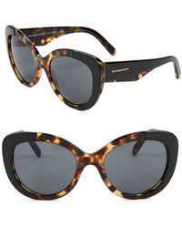 Burberry - 57mm Cat Eye Sunglasses - Lyst