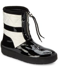 Aquatalia - Kali Patent Leather & Quilted Short Boots - Lyst
