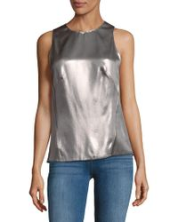 Narciso Rodriguez - Lk9 Silk Satin Top - Lyst