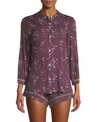 Eberjey - Daisy Pyjama Top & Shorts Set - Lyst