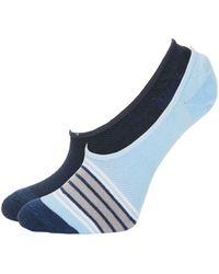 Saks Fifth Avenue - Striped Liner Socks - Lyst
