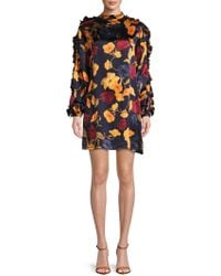 Mother Of Pearl - Silk Floral Shift Dress - Lyst