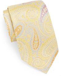 XMI Platinum - Large Paisley Silk & Linen Tie - Lyst